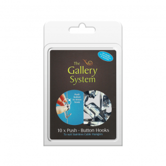 The Gallery System Push Button Hooks - Pack Shot