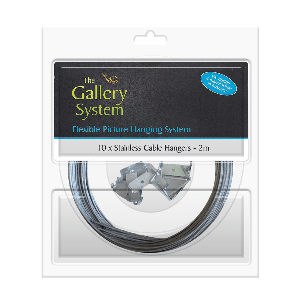 The Gallery System Stainless Steel Cable (wire) Dropper Kit 2m – Pack Shot