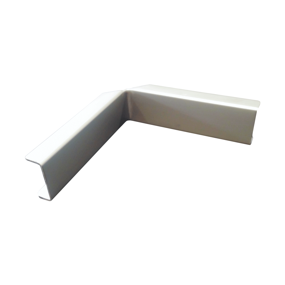 The Gallery Lighting System – Anodise Silver Internal Corner Cover – Front