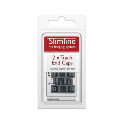 The Slimline Art Hanging System Grey Track End Caps - Pack Shot