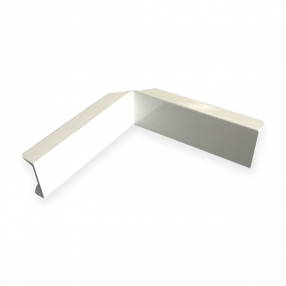 The Gallery Lighting System - White Internal Corner Cover - Front